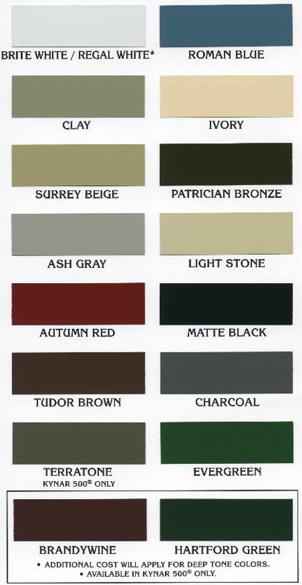 Metal Color Options