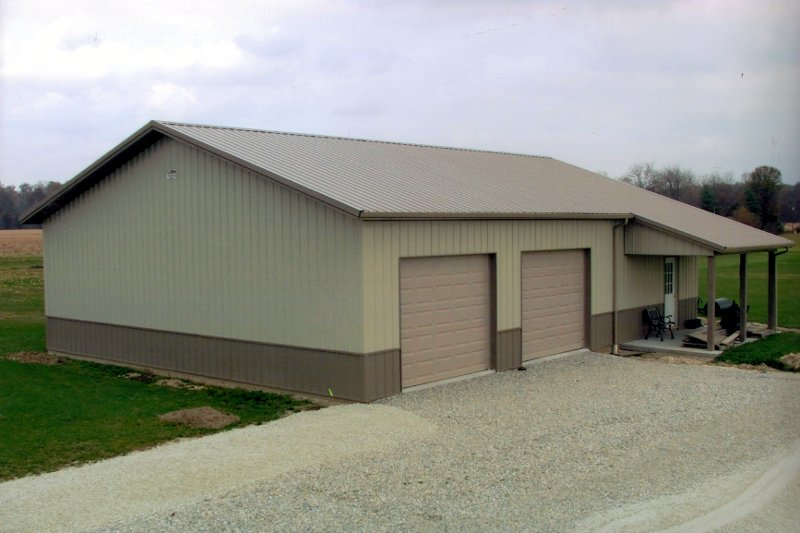 Residential Garage With Porch Comer Buildings