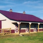 Equestrian With Porch 36' x 48' with an 8' x 48' porch and Dutch stall doors