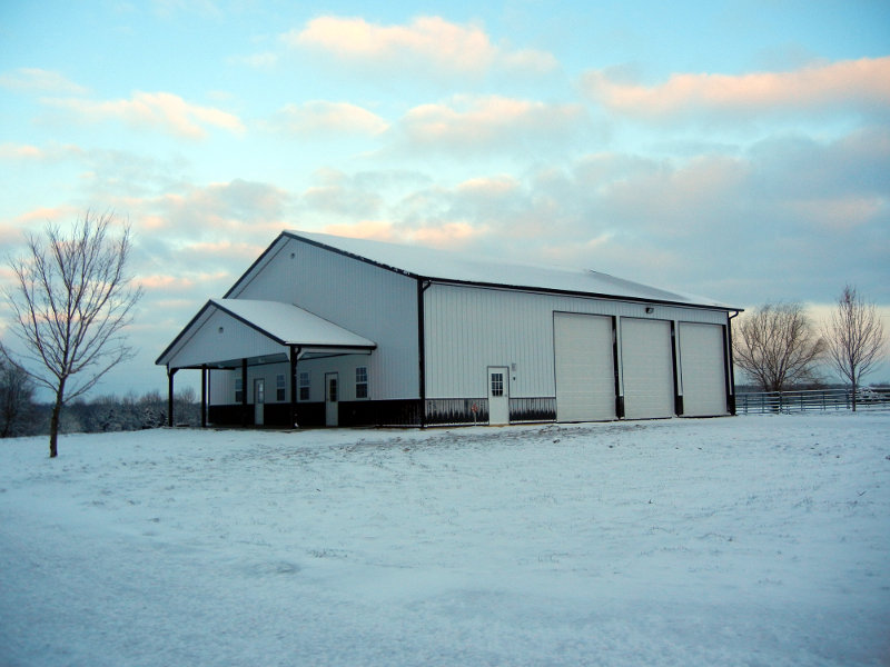 Cronen Equine Building 14' x 60' x 60' with a 10' x 40' porch