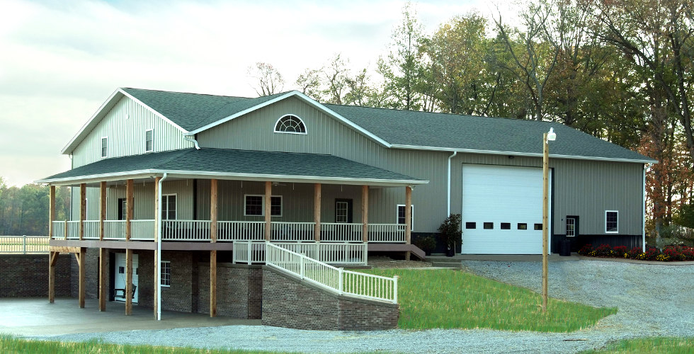 Home page comer post frame buildings for Pole barn home kits indiana