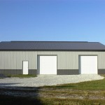 Two Car Garage with Side Bay