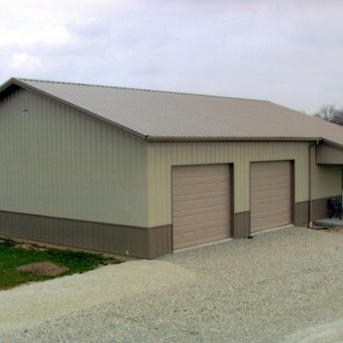 Residential Garage with Porch